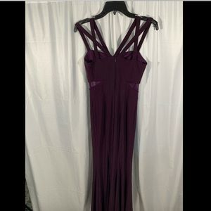 Xscape Dresses - USED Xscape Strappy Peekaboo Mesh Jersey Gown